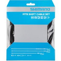 Shimano Mtb Gear Cable Set With Stainless Steel Inner Wire Black