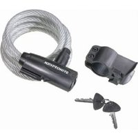Kryptonite Keeper 1018 Key cable - coiled - with bracket 10 mm x 180 cm