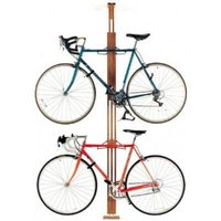 Gearup Oakrak Floor-to-ceiling 2 / 4-bike Rack - Walnut