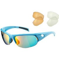 Madison Mission Glasses 3 Lens Pack - Gloss Sky / Fire Mirror Amber & Clear Lens