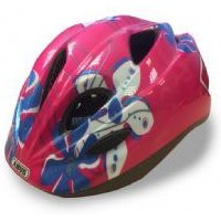 Abus Smiley Childs Helmet 52-57cm Pink Flower