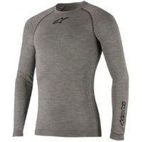 Alpinestars Tech Top Long Sleeve Winter Base Layer X-large/xx-large - Melange Grey/black