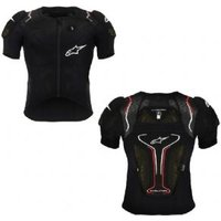 Alpinestars Protection Evolution Short Sleeve Body Armour Jacket Large - Black/white/red