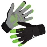 Image of Endura Windchill Full Finger Windproof Gloves Medium - Hi-Viz Yellow