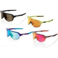 100and#37; S2 Mirror Lens Sunglasses  - Purple/ Hiper Blue Topaz Lens