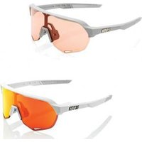 100and#37; S2 Hiper Lens Sunglasses  2020  - Grey/ Hiper Coral Lens