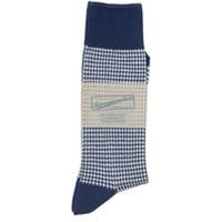 Houndstooth Socks In Navy