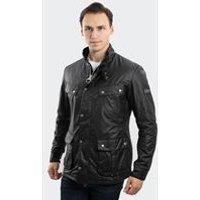 Duke Wax Jacket In Black