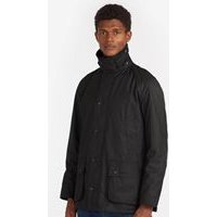 Ashby Wax Jacket In Black