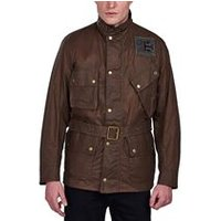 Steve McQueen Joshua Wax Jacket In Dark Sand
