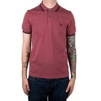 Twin Tipped Fred Perry Shirt In Crushed Berry/Black