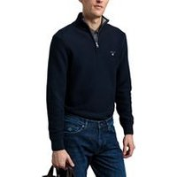 Triangle Texture Half-Zip Sweater In Evening Blue