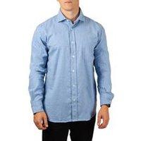 Paul Men Woven Shirt Brushed In Blue