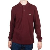 Classic Fit Polo Shirt Long Sleeve In Sauge Chine