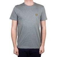 Crew Neck T-Shirt In Mid Grey Marl