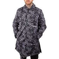Grave Cheetah Trench Coat in Blue