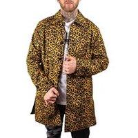 Grave Cheetah Trench Coat in Multi