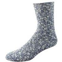 Cypress White / Navy Socks