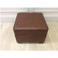 Product photograph showing Sloane Small Ottoman In Dune Hazel
