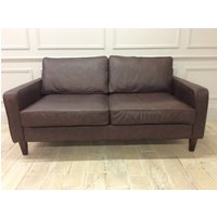 Product photograph showing Duke 3 Seater Sofa In Dune Coffee Leather