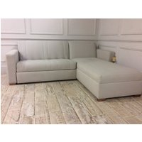 Product photograph showing Launceston 2str Sofabed With Left Side Storage Chaise In Herringbone Natural