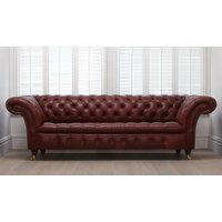 Product photograph showing Cromwell 4 Seater Sofa Buttoned Seat