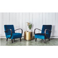 Product photograph showing Pair Of Antique Czech Armchairs By Jindrich Halabala
