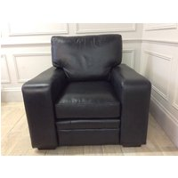Product photograph showing Sloane Chair In Old English Black Leather