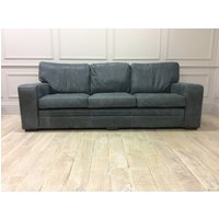 Product photograph showing Sloane 4 Seater Sofa In Premium Devil Grigio Leather