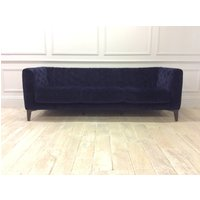 Product photograph showing Stefano 4 Seater Sofa In Brezza 04 Velvet