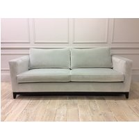Product photograph showing Darwin Large Sofa In Omega Moonbeam Velvet With Contrast Piping