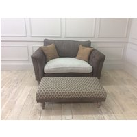 DORSET LOVE SEAT STANDARD BACK CUSHION WITH FOOTSTOOL