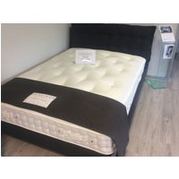 Product photograph showing Northcote King Size Bed Frame In Harbour Midnight Fabric Portobello Supreme 2400 Pocket Sprung Mattress