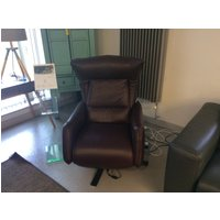 Product photograph showing Matteo Electric Recliner Chair In Premium Italian 20js Leather