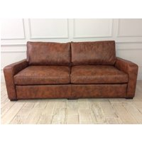 Product photograph showing Sandhurst 3 Seater Sofa In Vintage Tan