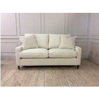 Beckenham 3.5 Seater Sofa Bed in Broad Weave Linen Buff with Memory Foam Mattress