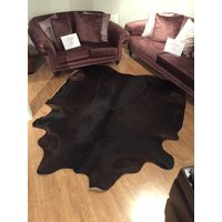 Product photograph showing Cow Hide Dark Brown Tw