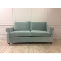 Kendal 3.5 Seater Sofa Bed in Easy Clean Plush Velvet Airforce