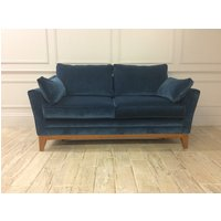 Exmouth 2 Seater Sofa Bed in Stain Resistant Cotton Velvet Persian Blue