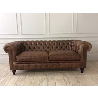 Product photograph showing Harrington 3 Seater Sofa In Vintage - Cognac Leather