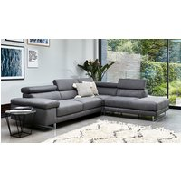 Milano Leather Chaise Sofa with Adjustable Headrests cheapest