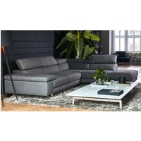 Product photograph showing Milano Fabric Corner Chaise Sofa - Right 2 Units 018 201