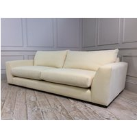Product photograph showing Kingston Grand Sofa In Linen Cotton Buttermilk Fabric
