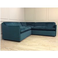 Norbury 2 x 2 Seater Corner Sofa Bed in Moleskin Velvet Teal