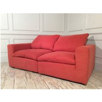 Product photograph showing Feather Standard Fabric 3 Seater Sofa In Ginger Snap