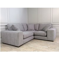 Product photograph showing Epping Grand Fabric Corner Sofa In Seal Grey