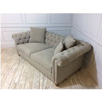 Product photograph showing Duresta Connaught Fabric Medium Sofa In Brera Linen