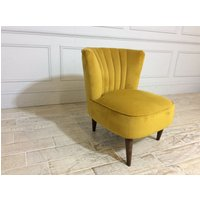 Product photograph showing Saxton Chair In Plush Turmeric