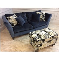 Product photograph showing Ampleforth Large Sofa With Footstool In Fortune - Midnight