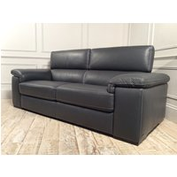 Product photograph showing Fabio 3 Seater Leather Sofa In 15d7